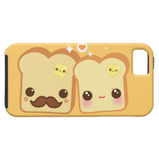 Kawaii cute toasts couple case for the iPhone 5