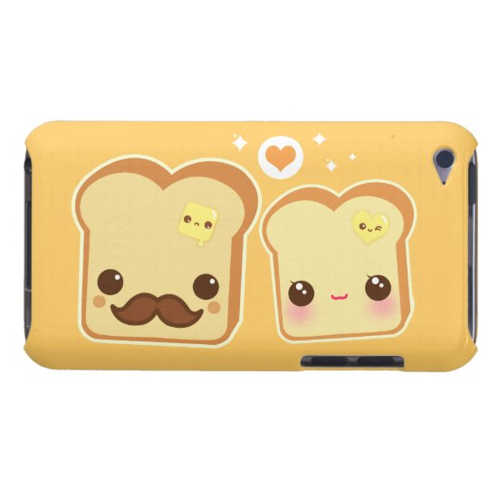 Kawaii cute toasts couple Case-Mate iPod touch case