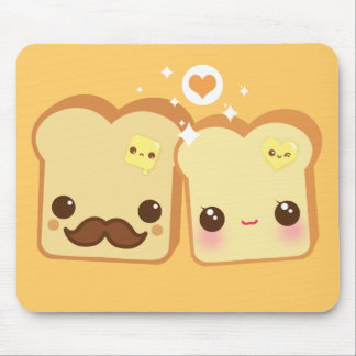 Kawaii cute toasts couple mousepads