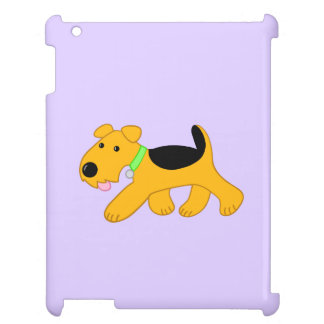 Kawaii Cute Trotting Airedale Puppy iPad Case