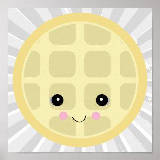 kawaii cute waffle poster