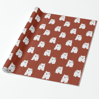 Kawaii Cute West Highland White Terrier Puppy Dog Wrapping Paper