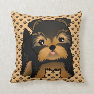 Kawaii Cute Yorkshire Terrier Puppy Dog Cushion