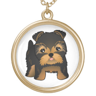 Kawaii Cute Yorkshire Terrier Puppy Dog Custom Necklace