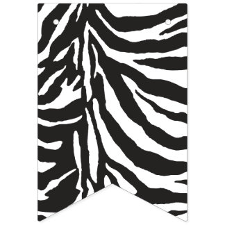 Kawaii Cute Zebra Pattern. Bunting