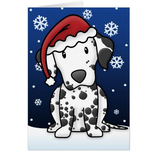 Kawaii Dalmatian Christmas Card