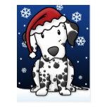 Kawaii Dalmatian Christmas Postcard