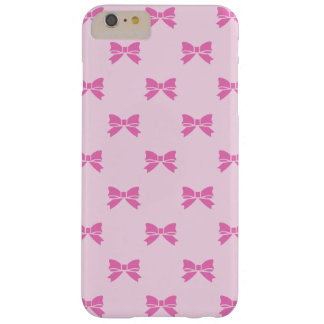 Kawaii Dark Pink Bows on Light Pink Barely There iPhone 6 Plus Case