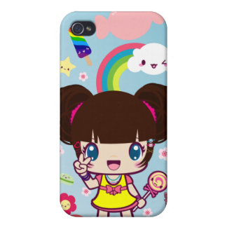 Kawaii Decora Girl Yuriko iPhone 4 Cases
