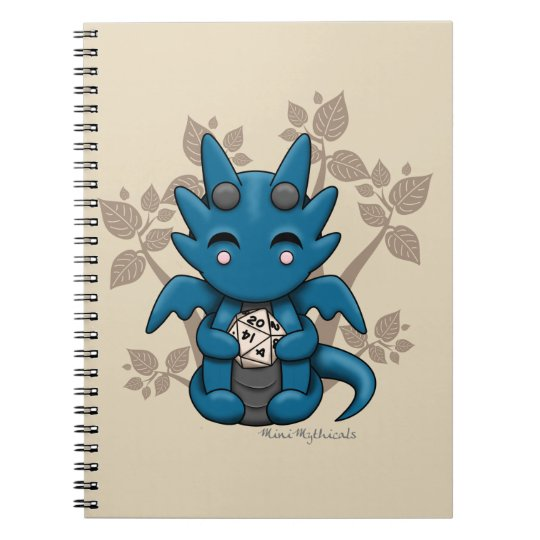 Kawaii Dice Dragon Spiral Notebook