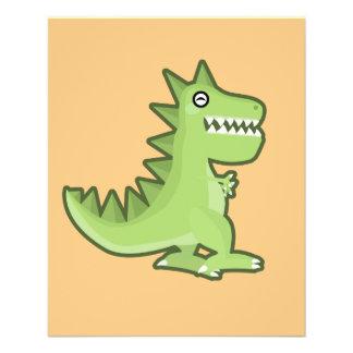 Kawaii Dinosaur 11.5 Cm X 14 Cm Flyer