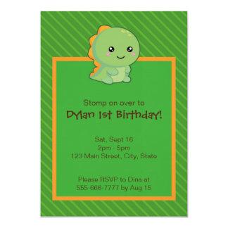 Kawaii Dinosaur Card