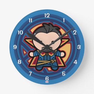 Kawaii Doctor Strange Emblem Round Clock