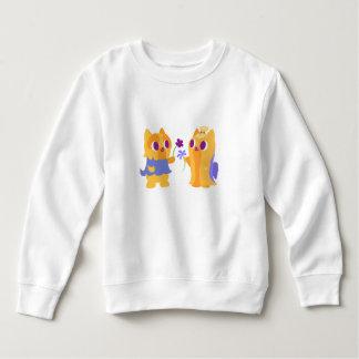 Kawaii Dog Best Friend Yorkies Giving Flowers Sweatshirt