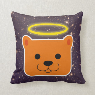 Kawaii Dog with to I pull ahead Throw Pillow