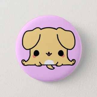 Kawaii Dog (You change the Background!) 6 Cm Round Badge