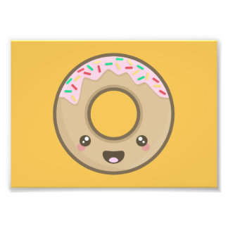 Kawaii donut photo print