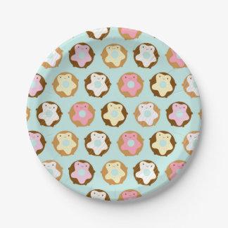Kawaii Donuts 7 Inch Paper Plate