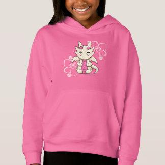 Kawaii Dragon Girl's Pullover Hoodie