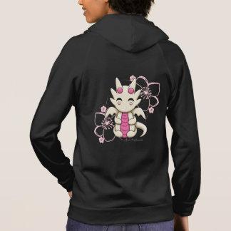 Kawaii Dragon Women's Zip Up Fleece Hoodie