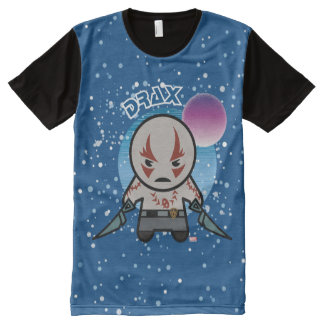 Kawaii Drax In Space All-Over Print T-Shirt