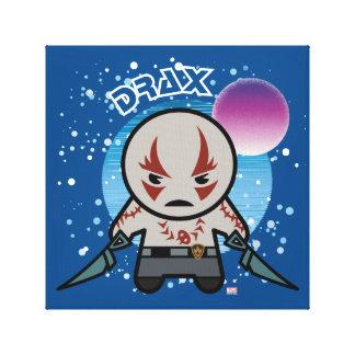 Kawaii Drax In Space Canvas Print