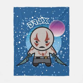 Kawaii Drax In Space Fleece Blanket