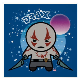 Kawaii Drax In Space Poster