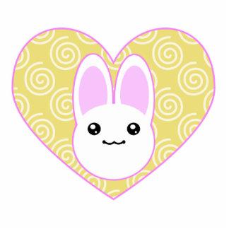 Kawaii Easter Bunny Cutout Shape Magnet Photo Sculpture Magnet
