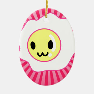 Kawaii Egg Happy Face Ornament