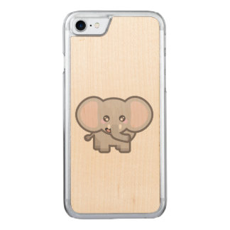 Kawaii elephant carved iPhone 8/7 case