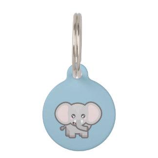 Kawaii elephant pet nametag
