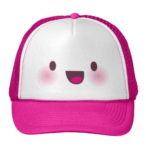 Kawaii face trucker hat