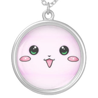 kawaii face kettink round pendant necklace