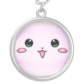 kawaii face kettink round pendant necklace