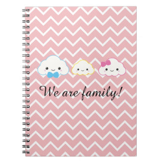 Kawaii Family Cloud Spiral Notebook