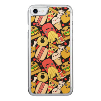 Kawaii Fast Food Pattern Carved iPhone 8/7 Case