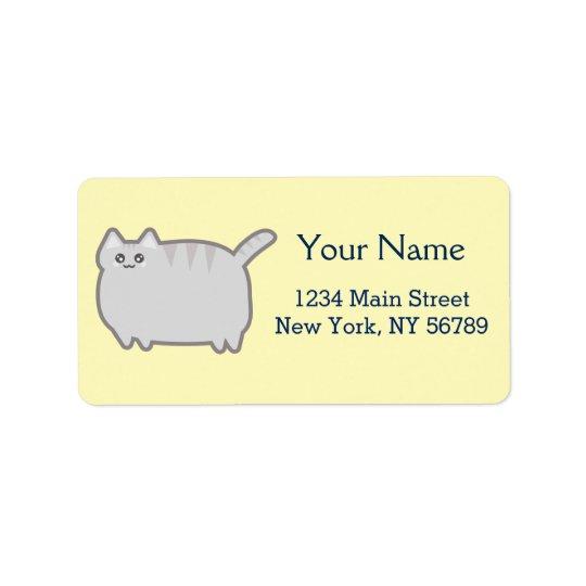 Kawaii Fat Cat Address Label