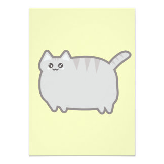 Kawaii Fat Cat Card