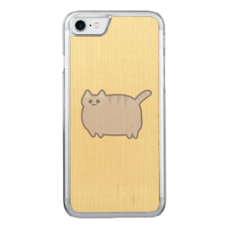 Kawaii Fat Cat Carved iPhone 8/7 Case