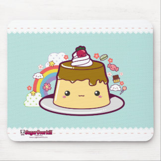 Kawaii Flan Mouse Pad