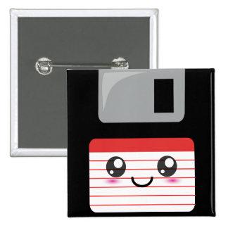 Kawaii Floppy Disk 15 Cm Square Badge