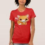 Kawaii fox with cute icecream tee shirts