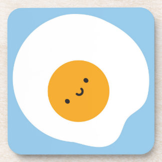 Kawaii Fried Egg Beverage Coasters