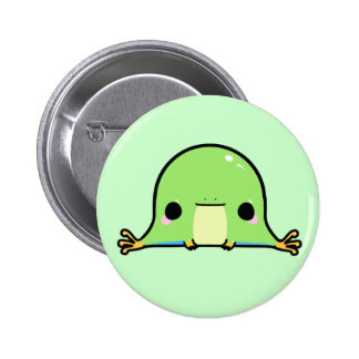Kawaii Frog (You change the Background!) 6 Cm Round Badge