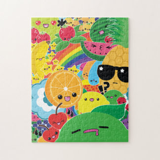 Kawaii Fruit Bash 8x10 Puzzle