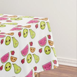 Kawaii fruit Emoji Tablecloth