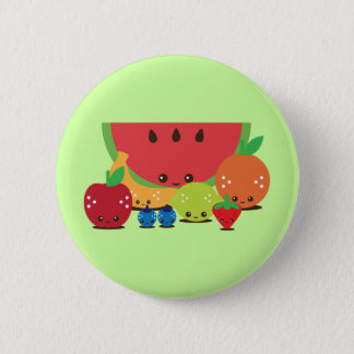 Kawaii Fruit Group 6 Cm Round Badge