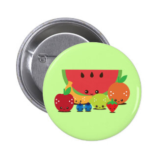 Kawaii Fruit Group 6 Cm Round Badge