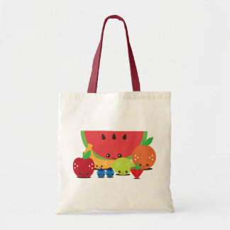 Kawaii Fruit Group Tote Bag